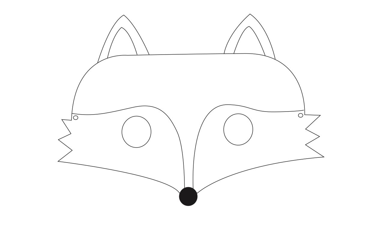 Fuchsmaske Zum Ausdrucken Und Basteln › Vertbaudet Blog mit Masken Vorlagen Zum Ausdrucken Kostenlos