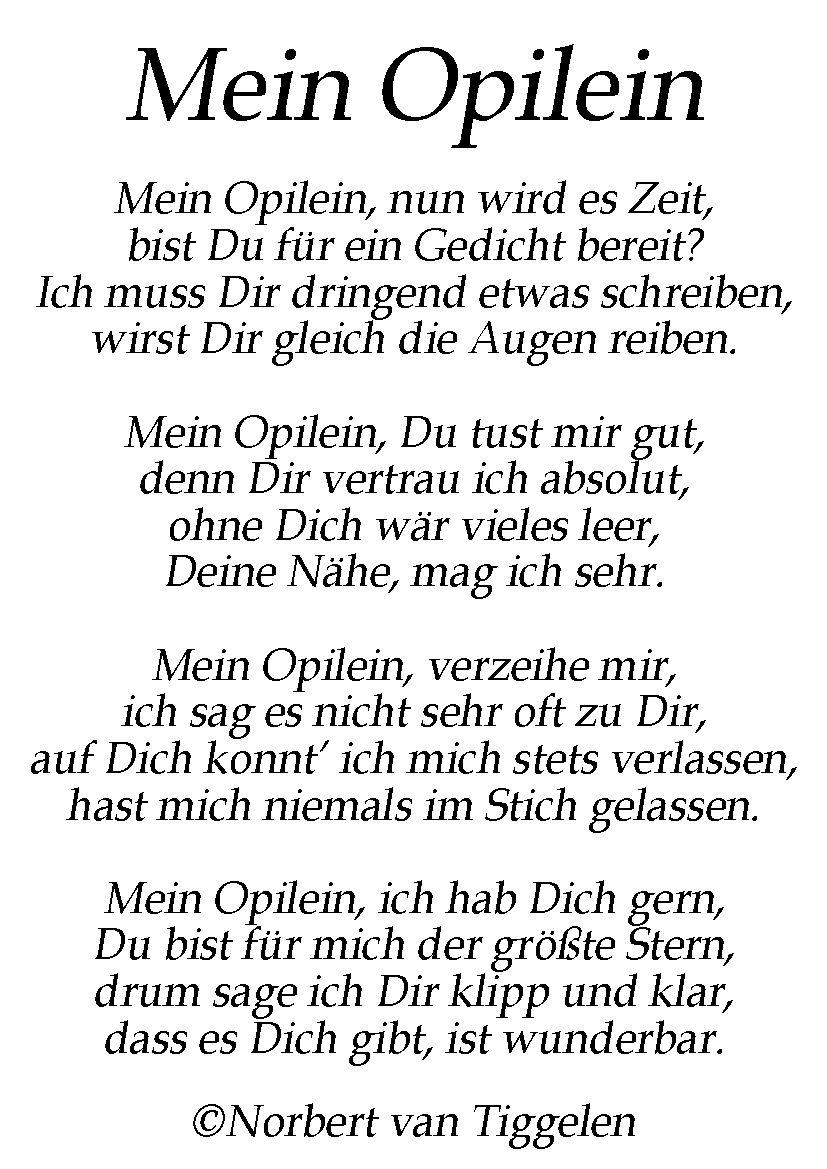 Für Den Geliebten Opa - Ein Gedicht Von Norbert Van Tiggelen über Für Die Beste Oma Der Welt Gedichte
