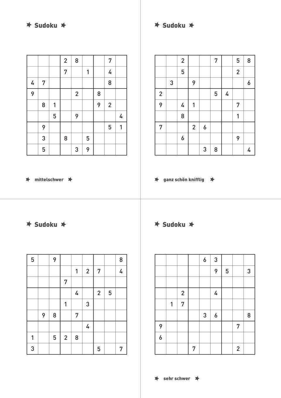 Für Den Rätsler/die Rätslerin - Pdf Kostenfreier Download in Sudoku Zum Ausdrucken Sehr Schwer