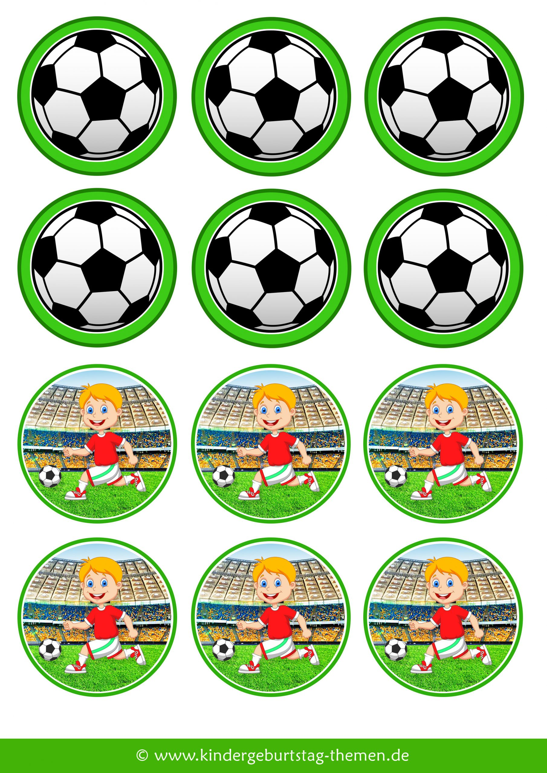 Fußball Deko: Vorlagen Von Cupcake-Fähnchen für Fußball Bilder Zum Ausdrucken