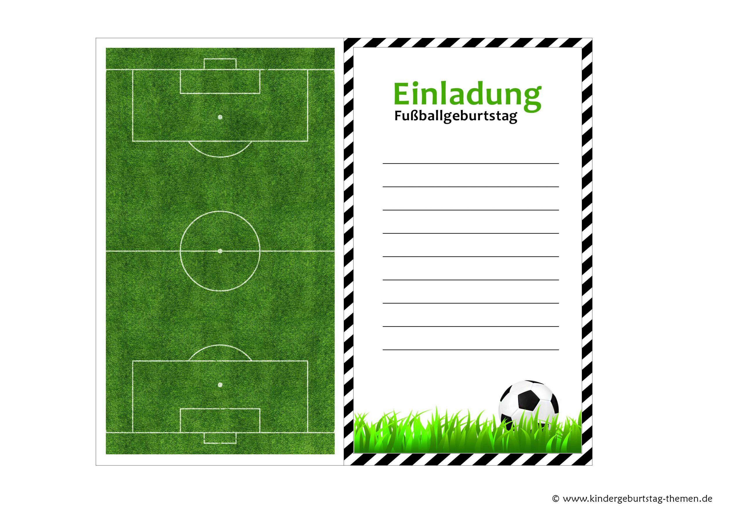 Fußball Geburtstagseinladungen Kostenlos Downloaden (Mit bei Fussball Vorlagen Zum Ausdrucken