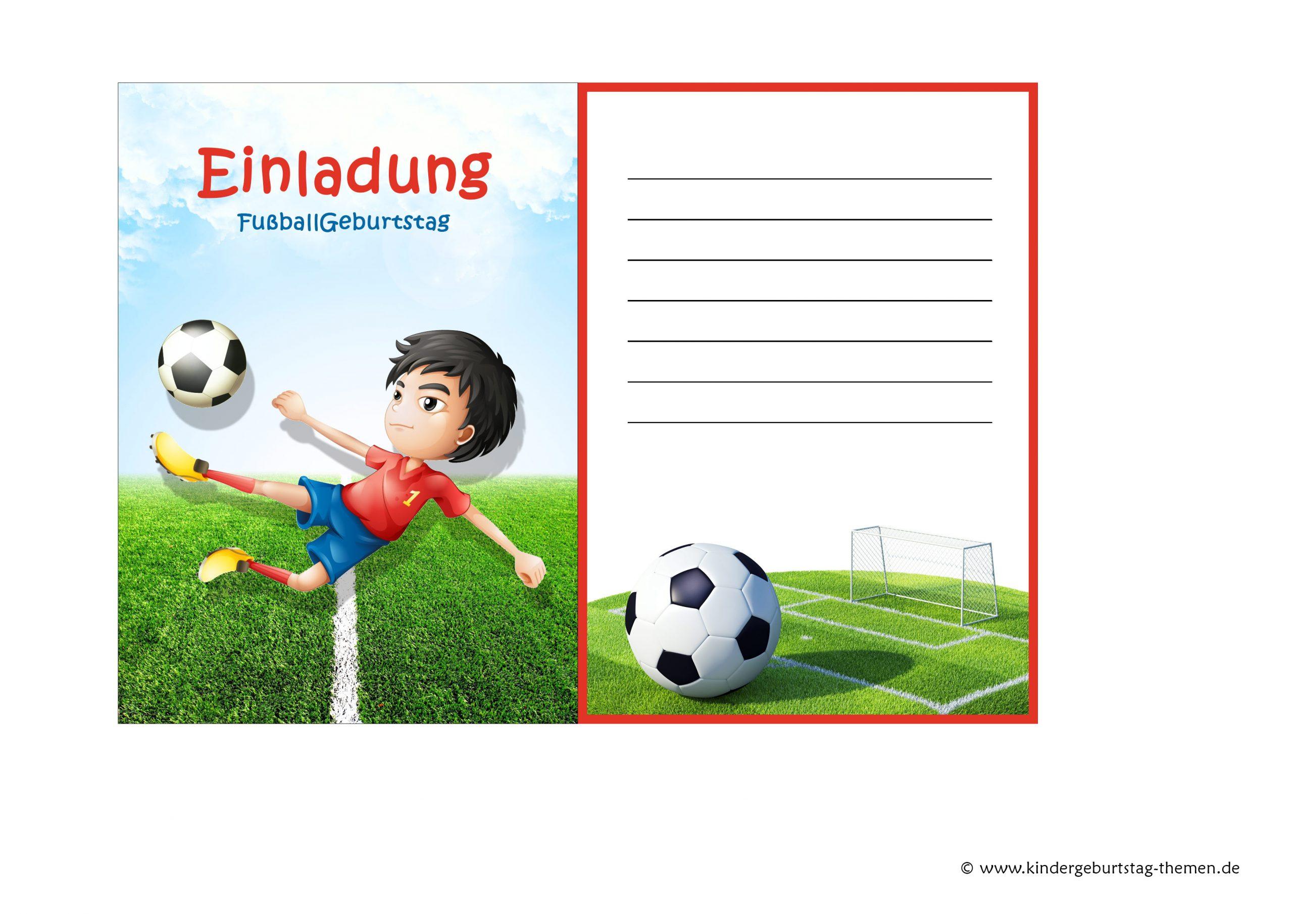 Fussball Einladung: Kostenlose Vorlagen Zum Ausdrucken innen Fussball Vorlagen Zum Ausdrucken