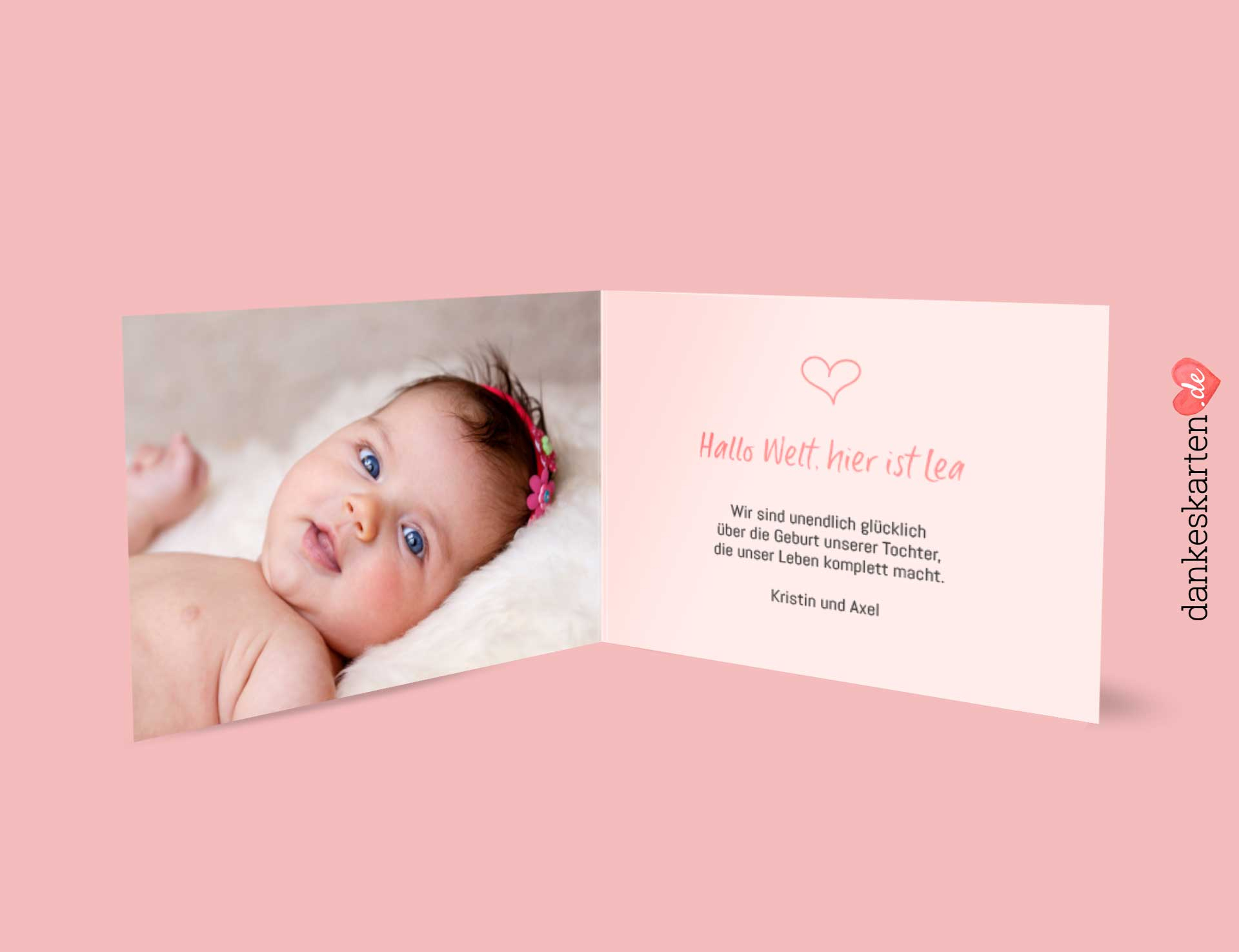 Geburtskarte – Lea über Dankes Karten