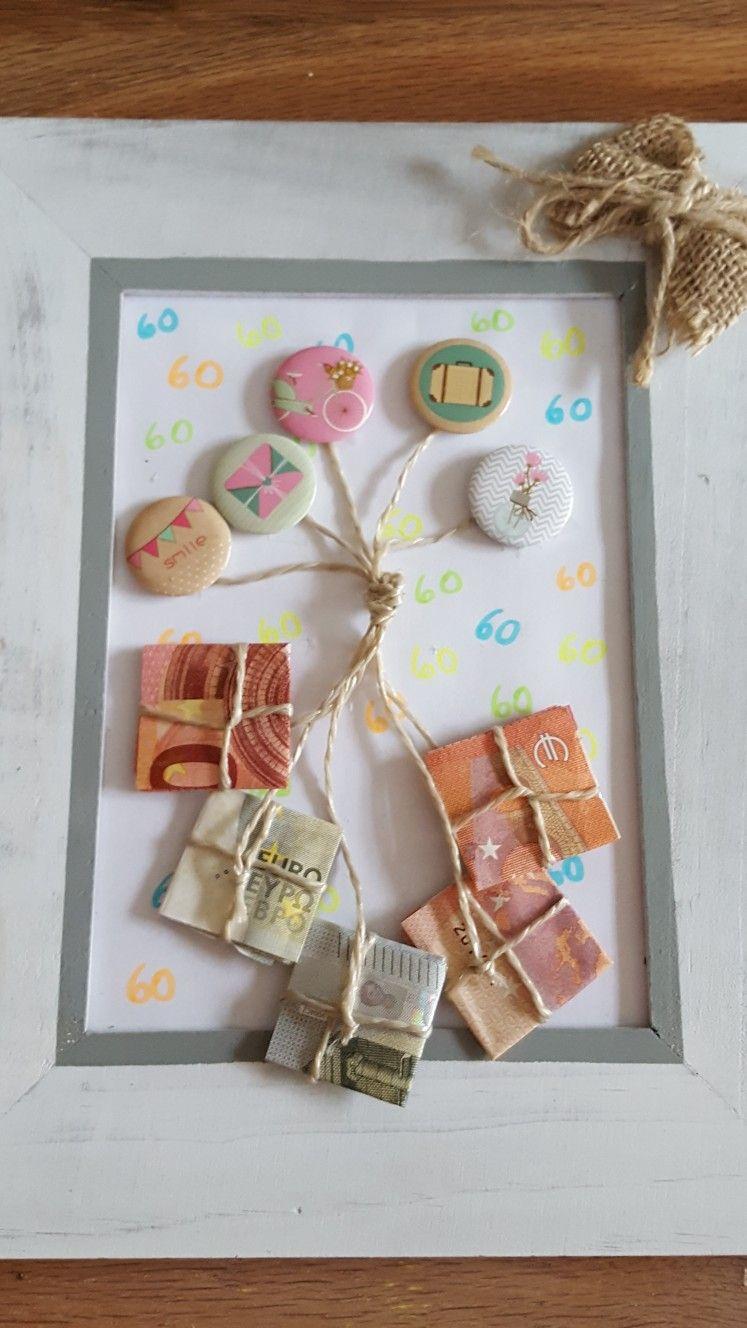 Geburtstag #geschenk #geldgeschenk #60 #luftballons #pakete mit Geldgeschenke Geburtstag 60 Basteln