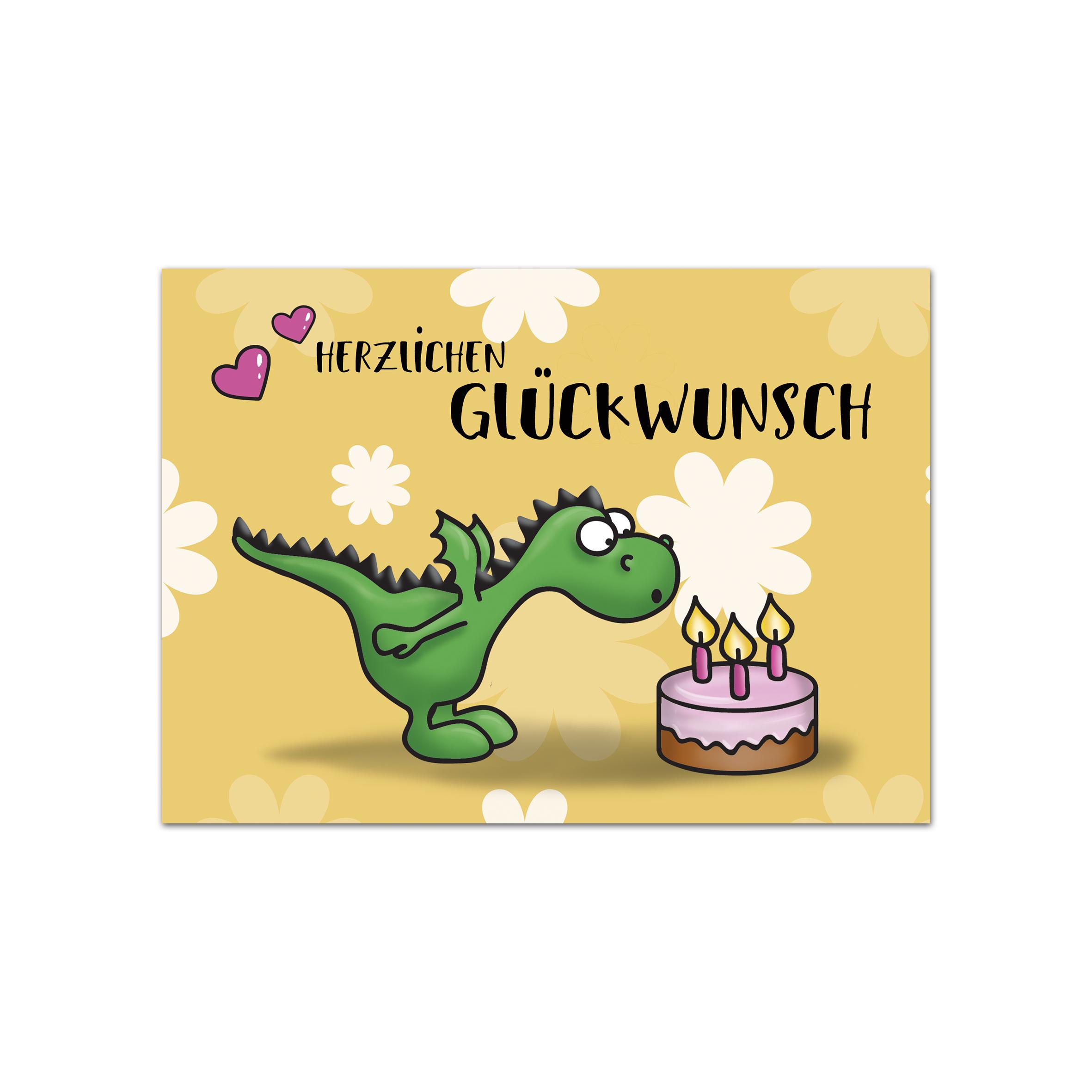 Geburtstag Glückwunschkarte Drache Im Set Zu 10 Stück bei Geburtstagskarten Kinder