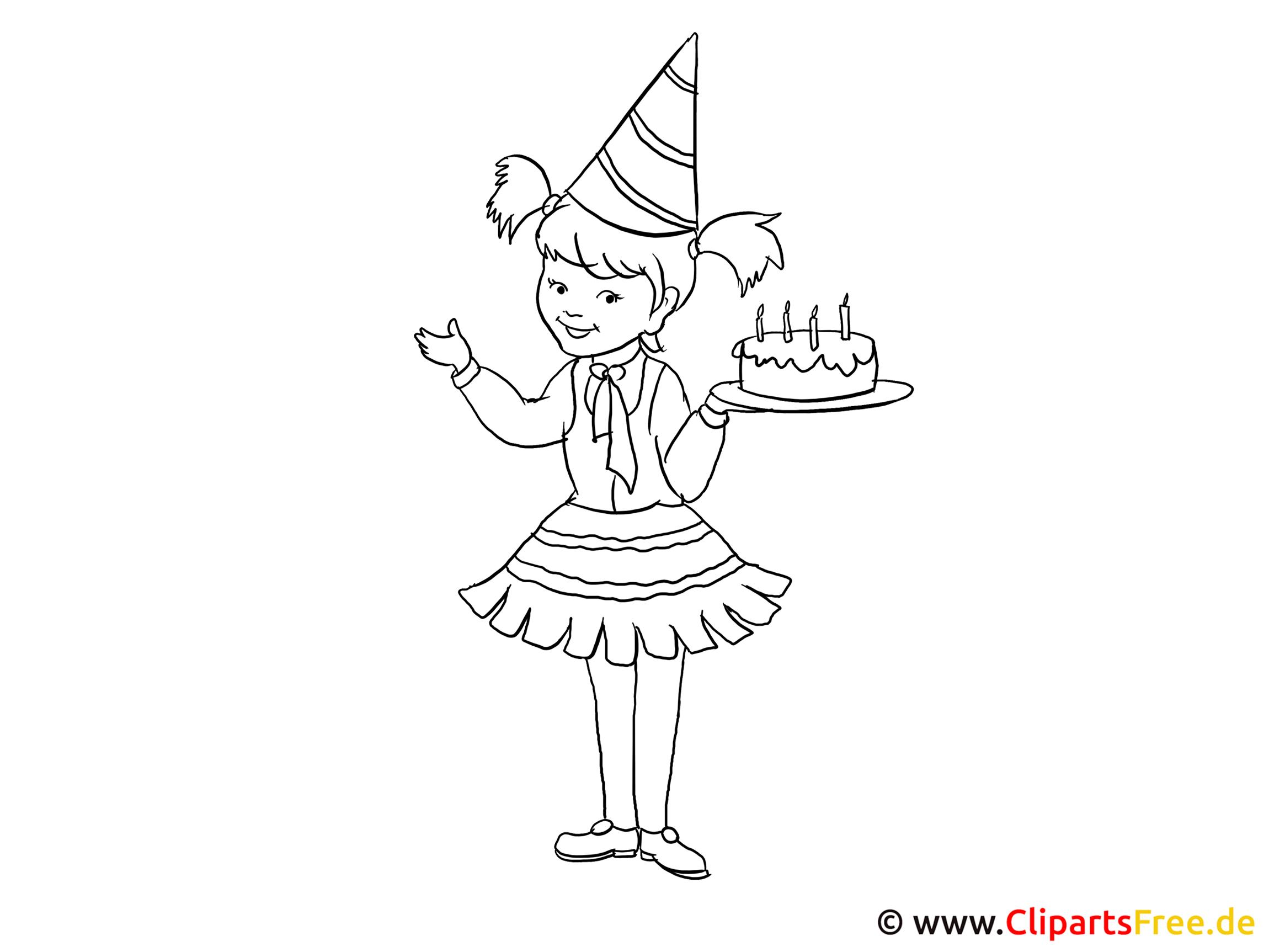 Geburtstag - Kinderbilder Zum Ausmalen verwandt mit Kinderbilder Zum Ausmalen