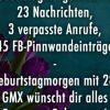 Geburtstagmorgen Mit 16: 23 Nachrichten, 3 Verpasste Anrufe verwandt mit Sprüche Zum 16 Geburtstag Witzig Kurz