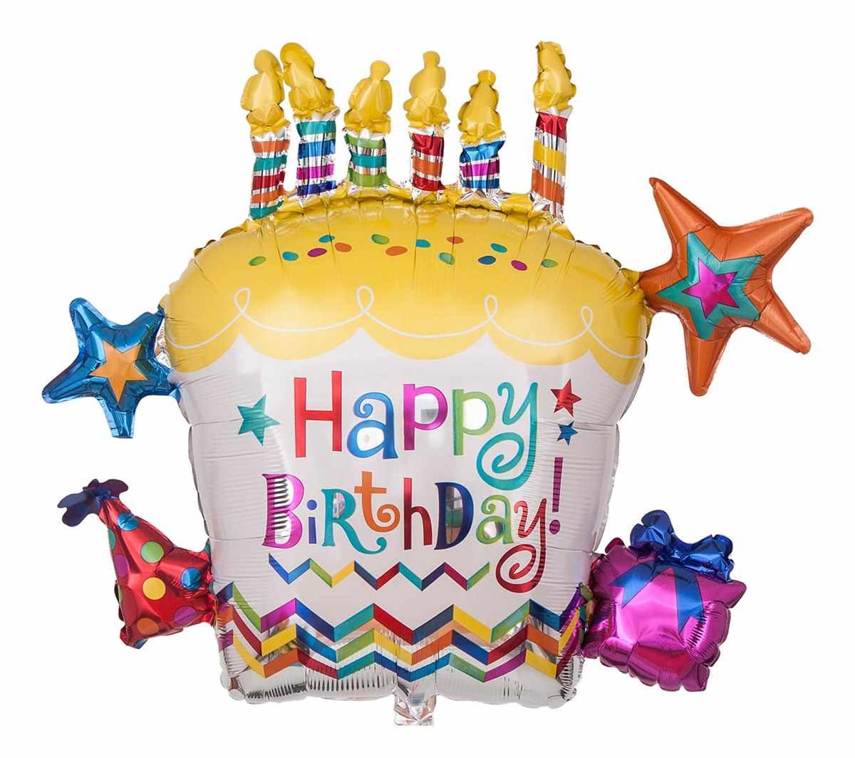 "Geburtstagsballon ""happy Birthday Torte"" über Torte Happy Birthday"