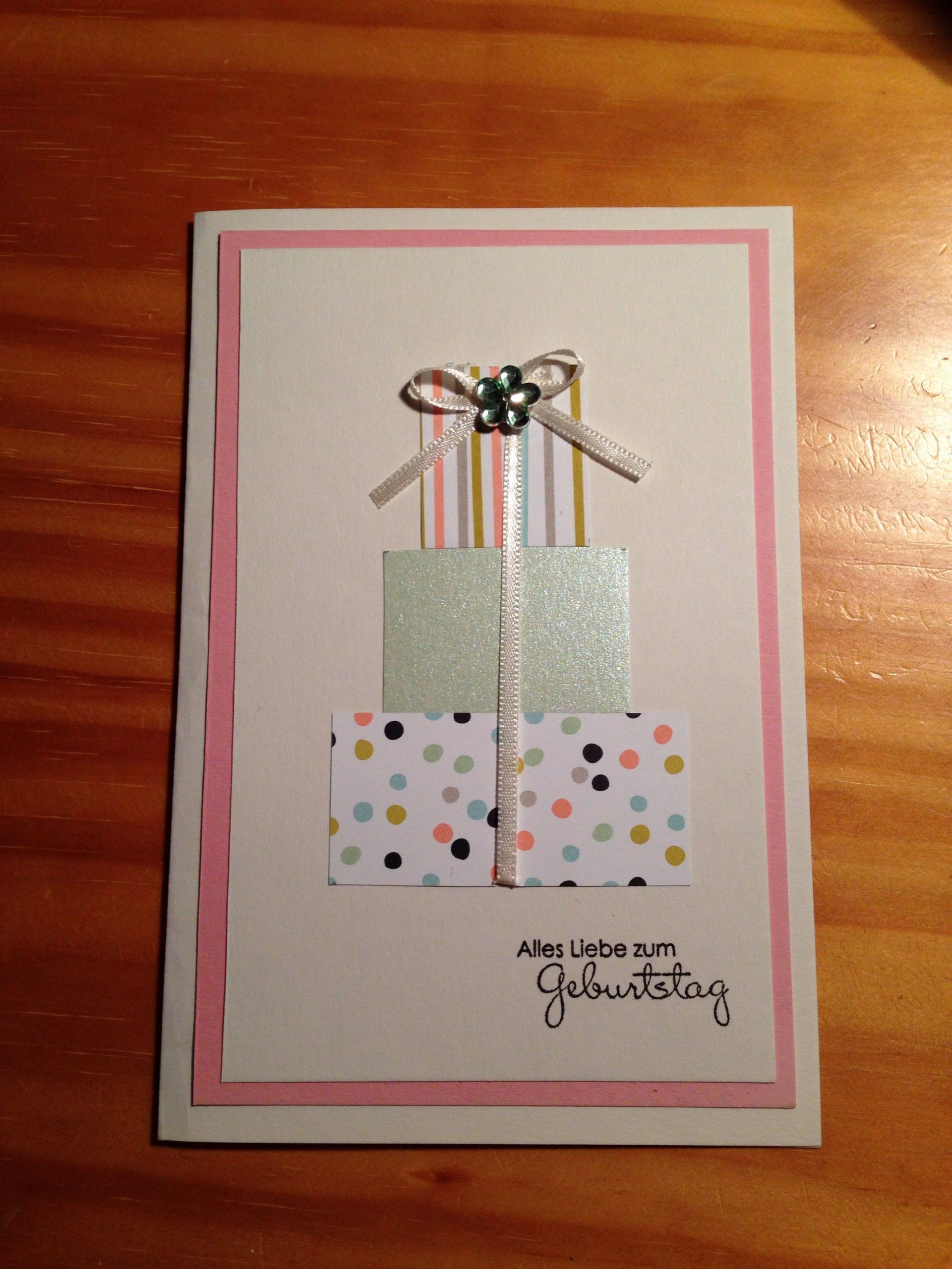Geburtstagskarte | Karten Basteln, Geburtstagskarte, Karten für Glückwunschkarten Basteln
