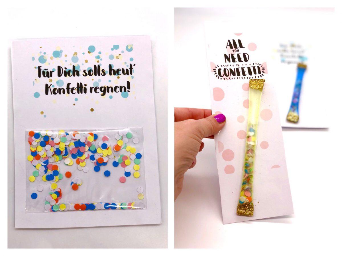 Geburtstagskarte Zum Ausdrucken Selber Machen Mit Konfetti für Geburtstagskarten Ausdrucken