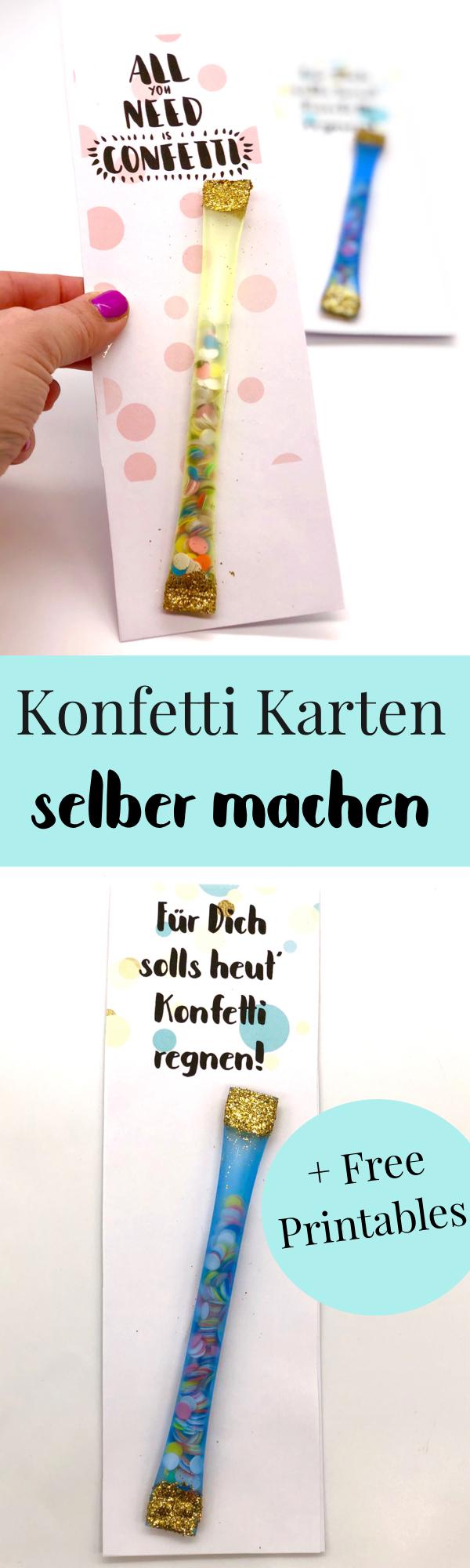 Geburtstagskarte Zum Ausdrucken Selber Machen Mit Konfetti über Geburtstagskarte Selber Drucken