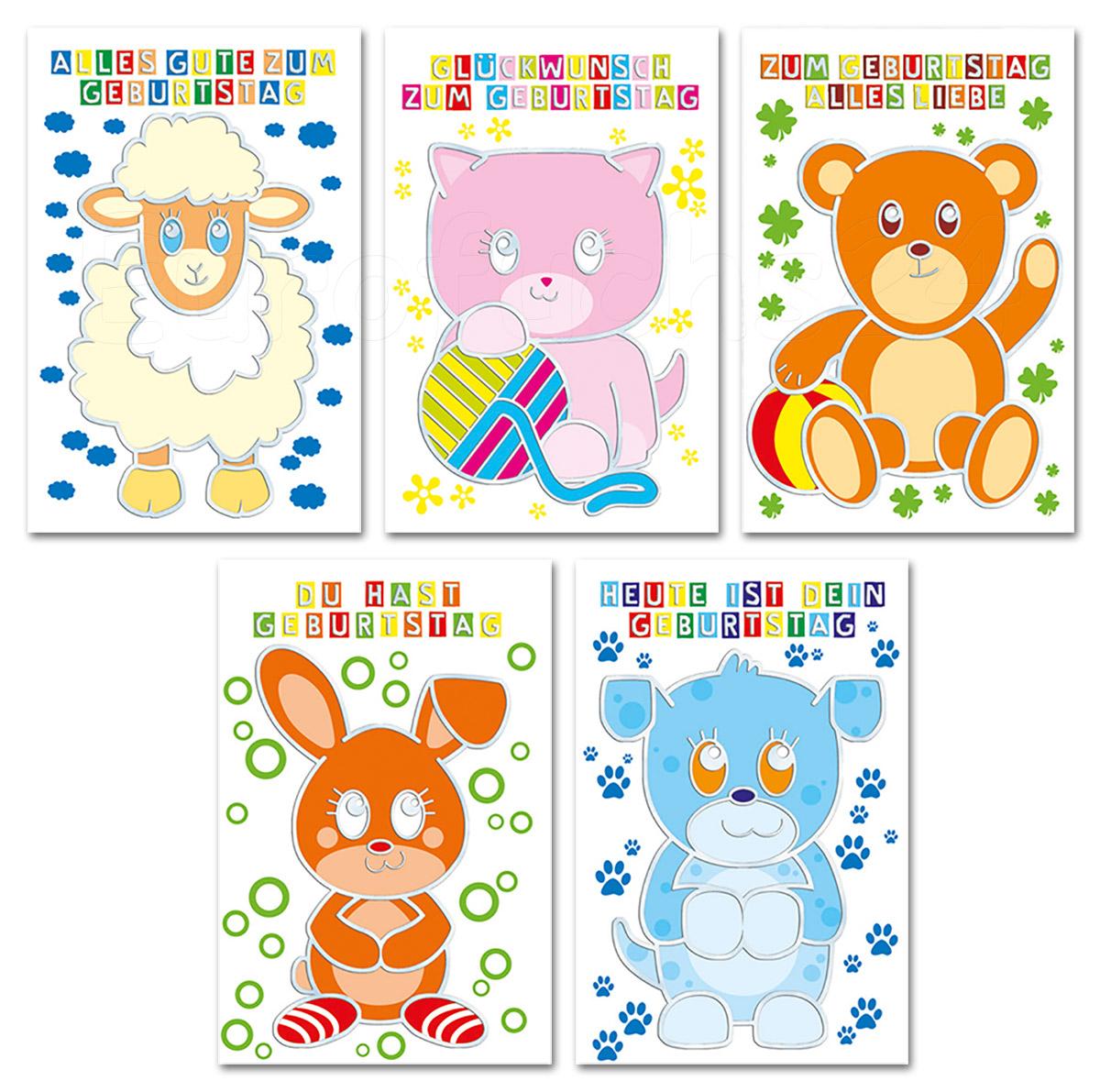 Geburtstagskarten Premium Glückwunschkarten Kinder-Geburtstag Grußkarten  4444 (25 Stück) bei Geburtstagskarten Kinder