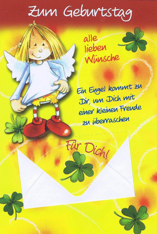Geburtstagskarten Schutzengel Mit Geldkuvert 201274 für Geburtstagkarten