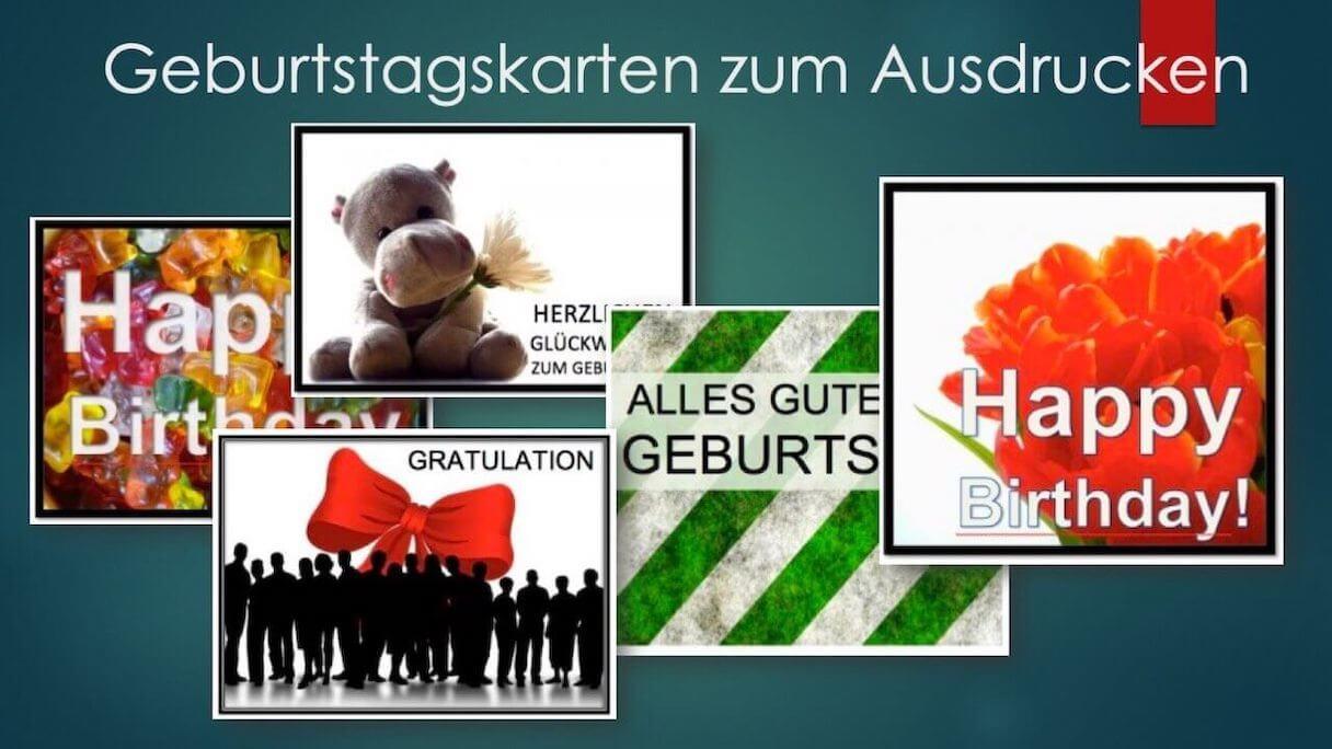 Geburtstagskarten Vorlagen Zum Ausdrucken   Kostenlos Downloaden mit Gratis Geburtstagskarten