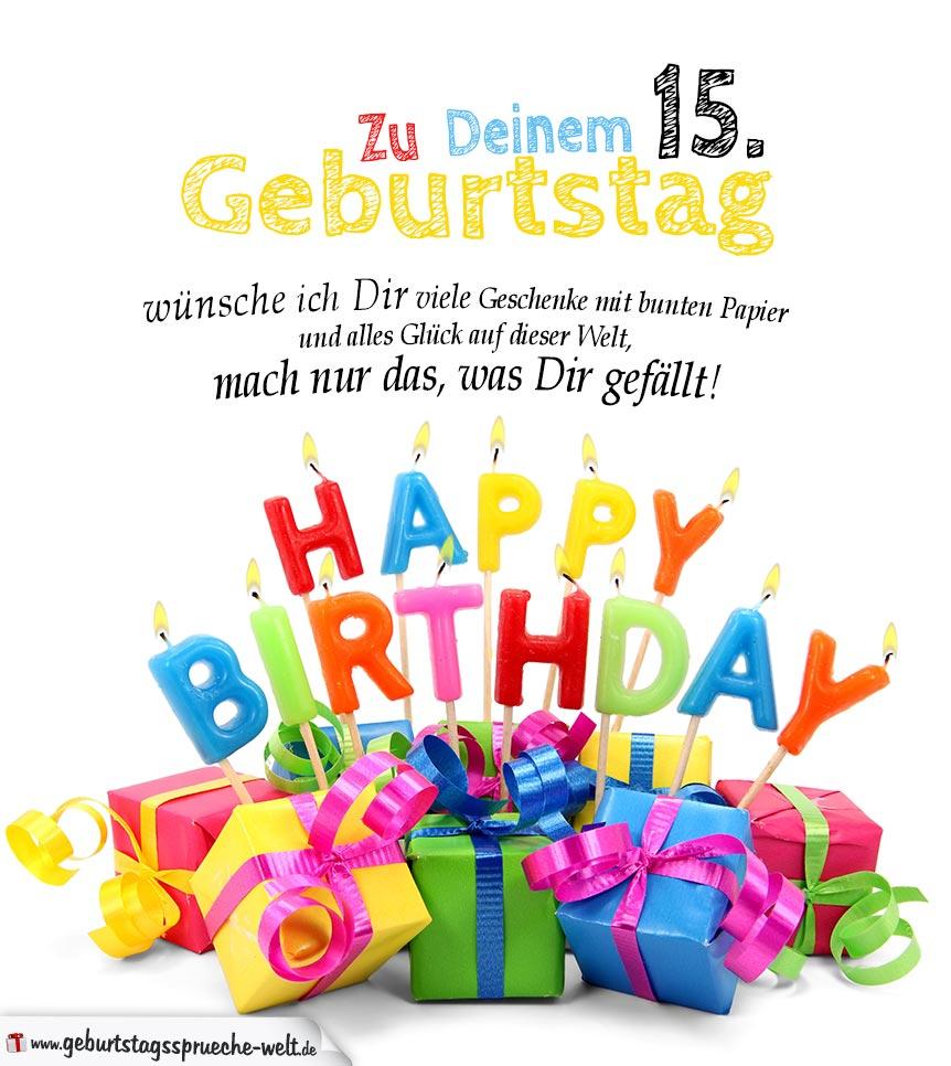 Geburtstagskarten Zum Ausdrucken 15. Geburtstag bestimmt für Geburtstagskarte Online Kostenlos