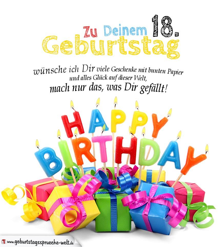 Geburtstagskarten Zum Ausdrucken 18. Geburtstag mit Glückwunschkarten Zum Ausdrucken Kostenlos