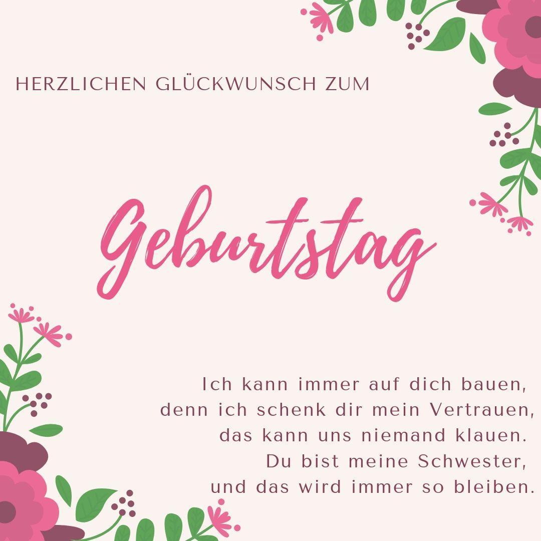 Geburtstagswünsche Für Schwester: Lustige Und Liebevolle Sprüche für Geburtstagsgrüße Bilder Kostenlos