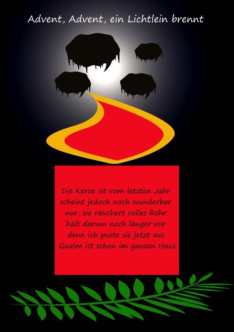 Gedicht Advent, Advent, Ein Lichtlein Brennt Von Gisela ganzes Advent Advent Ein Türke Brennt
