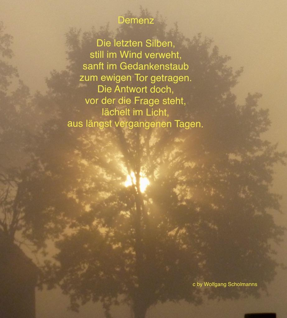 Gedicht Demenz Von Wolfgang Scholmanns Bei E-Stories.de verwandt mit Abschied Gedicht
