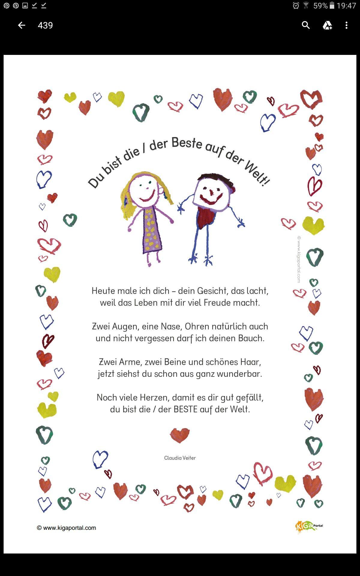 Gedicht Für Mutter/vatertag | Muttertag Gedicht in Bastelideen Zum Vatertag Grundschule