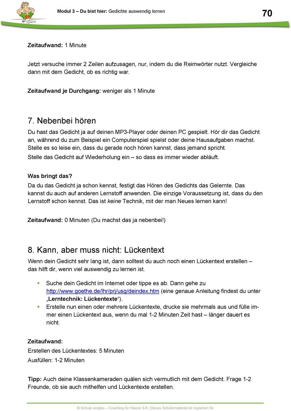 Gedichte Auswendig Lernen - Pdf Free Download für Gedichte Zum Auswendig Lernen 5 Klasse
