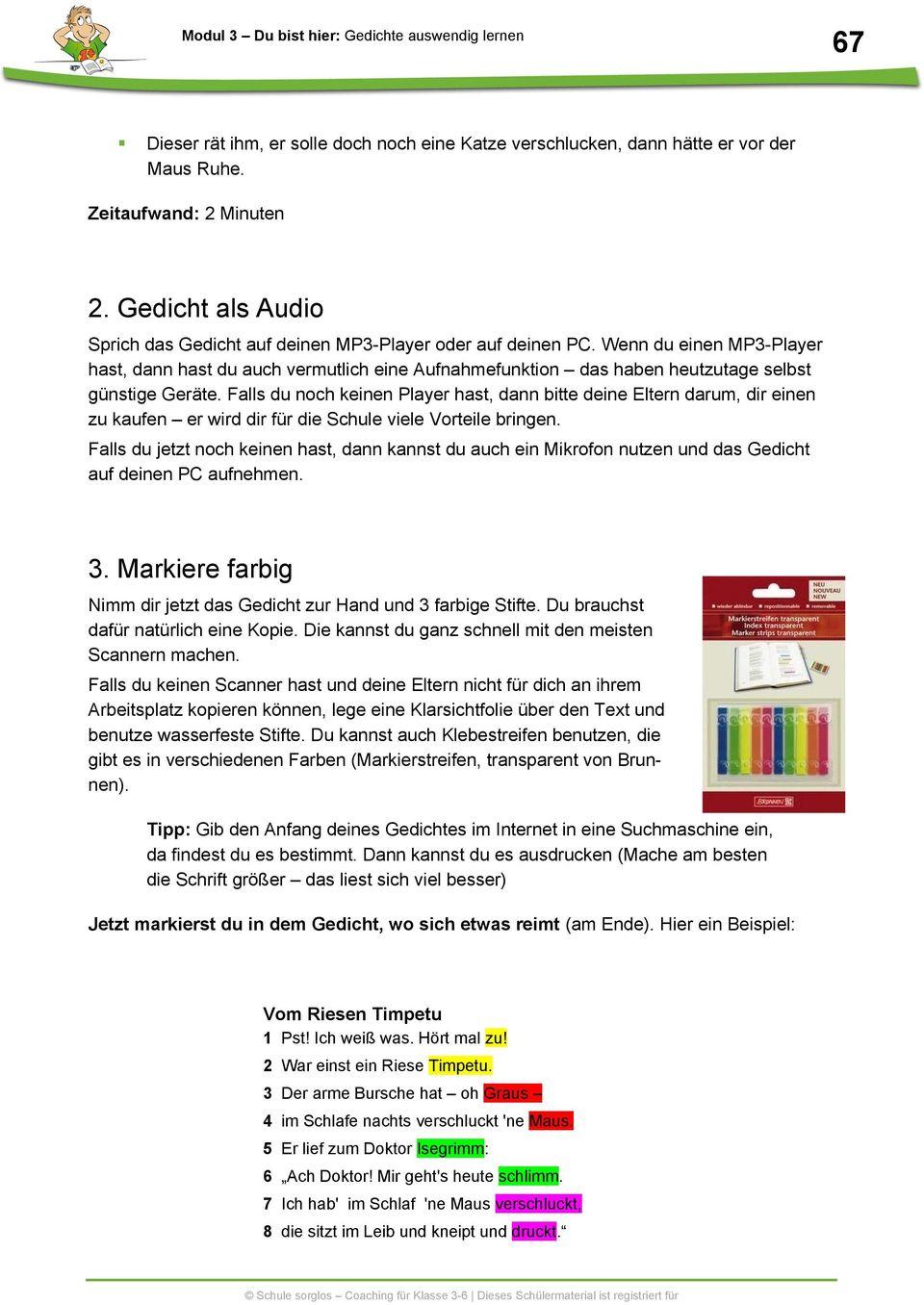 Gedichte Auswendig Lernen - Pdf Free Download mit Gedichte Zum Auswendig Lernen 5 Klasse