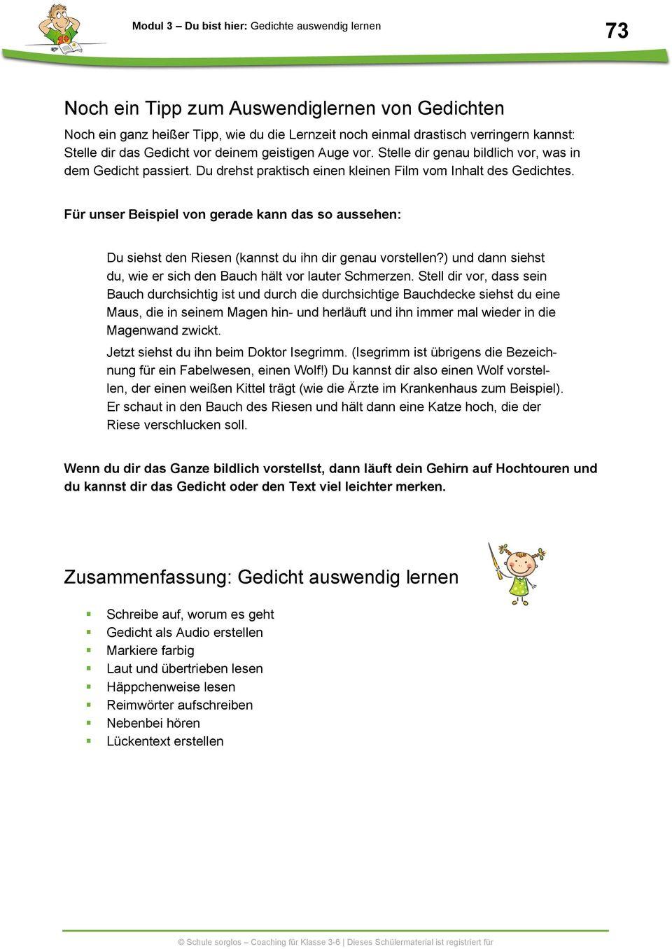 Gedichte Auswendig Lernen - Pdf Free Download verwandt mit Gedichte Zum Auswendig Lernen 5 Klasse