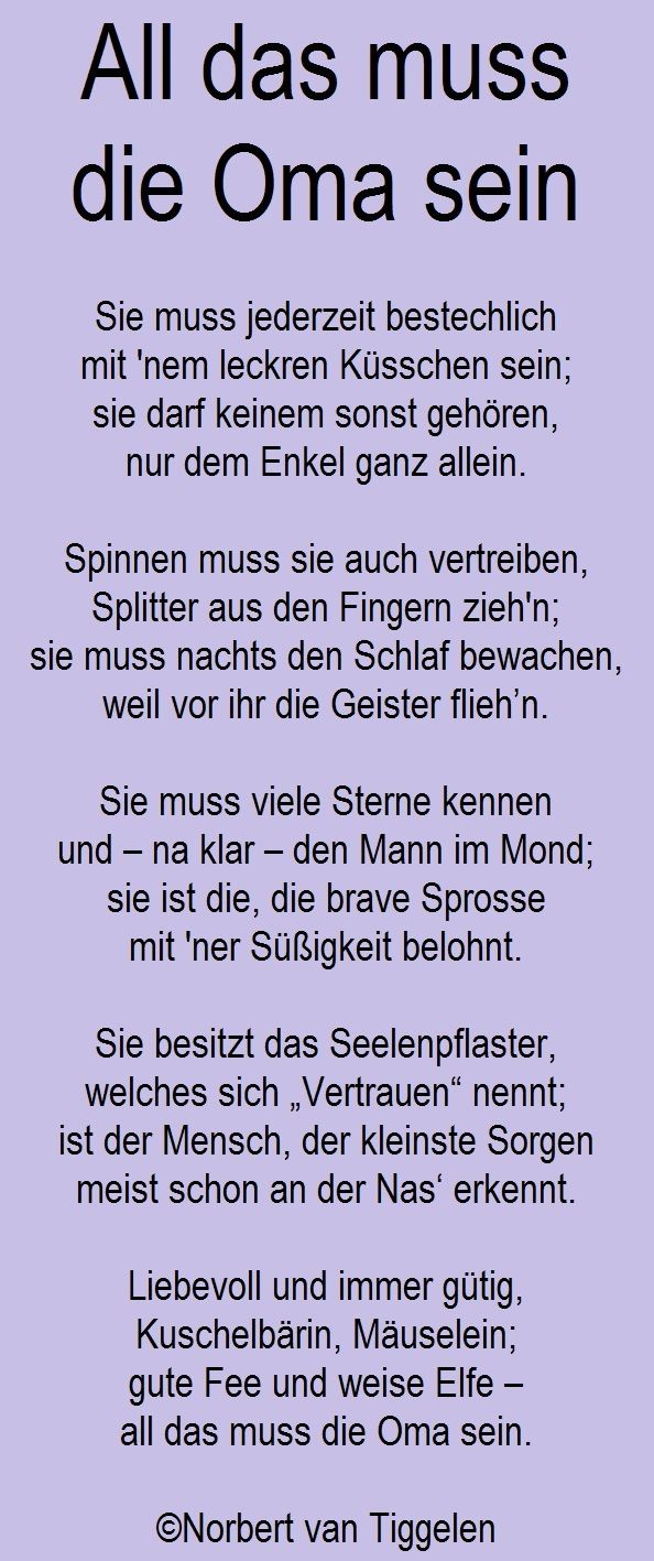 Gedichte, Mitten Aus Dem Leben, Von Norbert Van Tiggelen bestimmt für Geburtstagsgedicht Für Opa Vom Enkel
