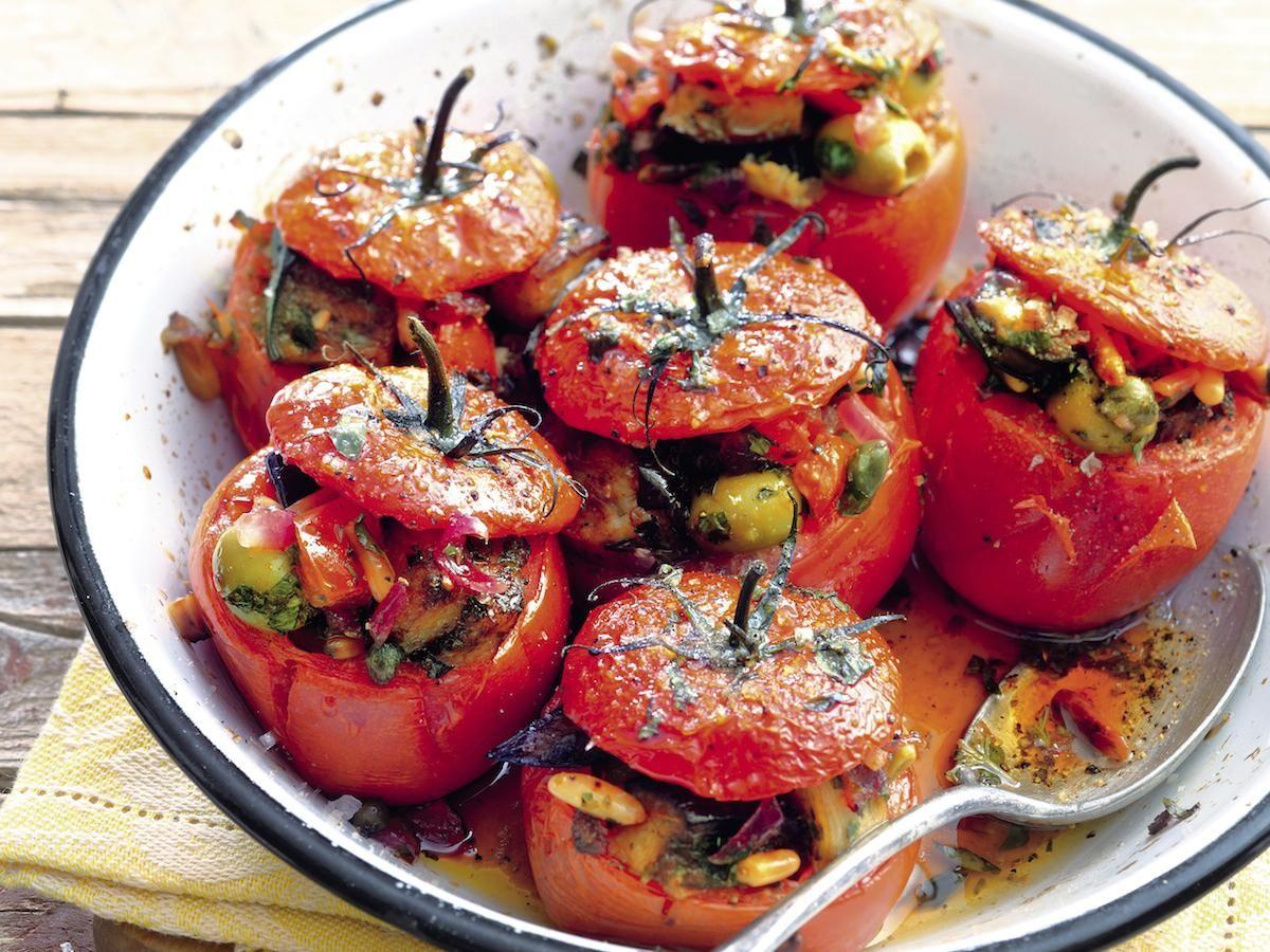 Gefüllte Tomaten (Pomodori Ripieni Alla Caponata) verwandt mit Gefüllte Tomaten Mit Schafskäsecreme