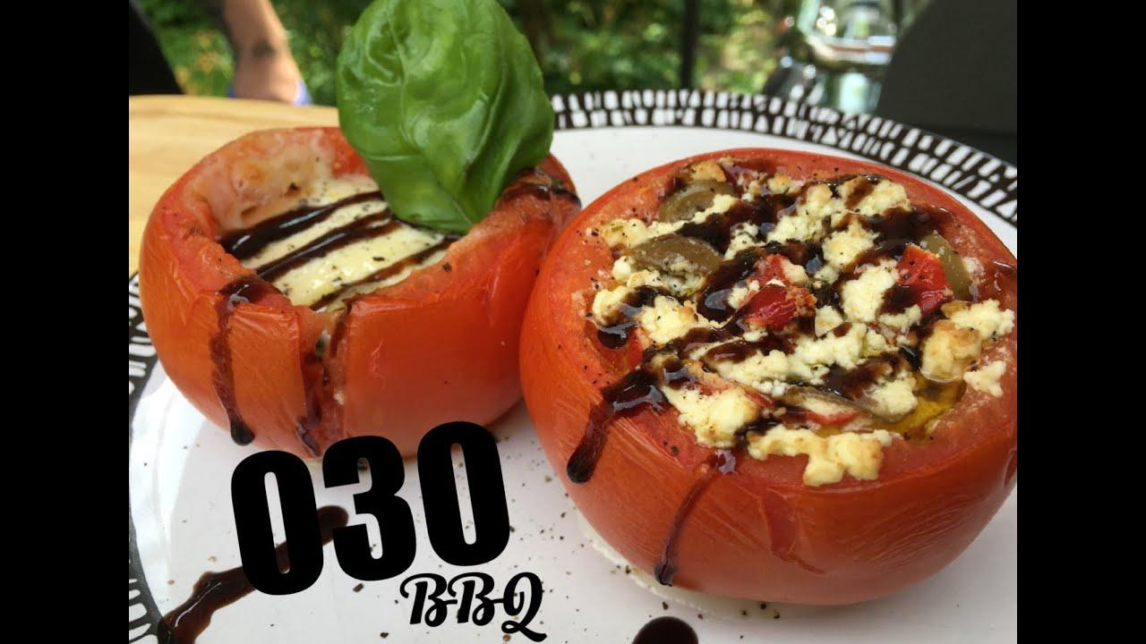 Gefüllte Tomaten Vom Grill - 030 Bbq ganzes Gefüllte Tomaten Mit Schafskäsecreme