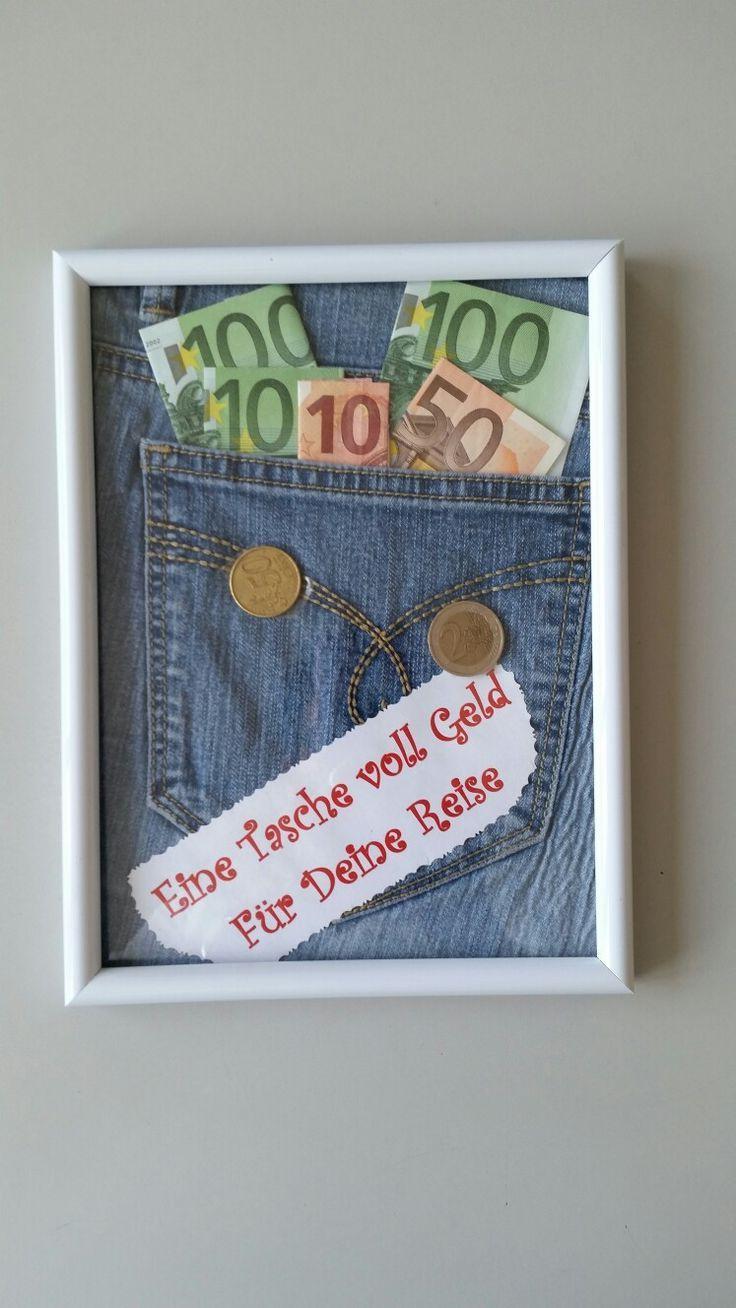 Geldgeschenk Für Eine Reise … | Geschenke, Geldgeschenke bestimmt für Lustige Hochzeitsgeschenke Mit Geld