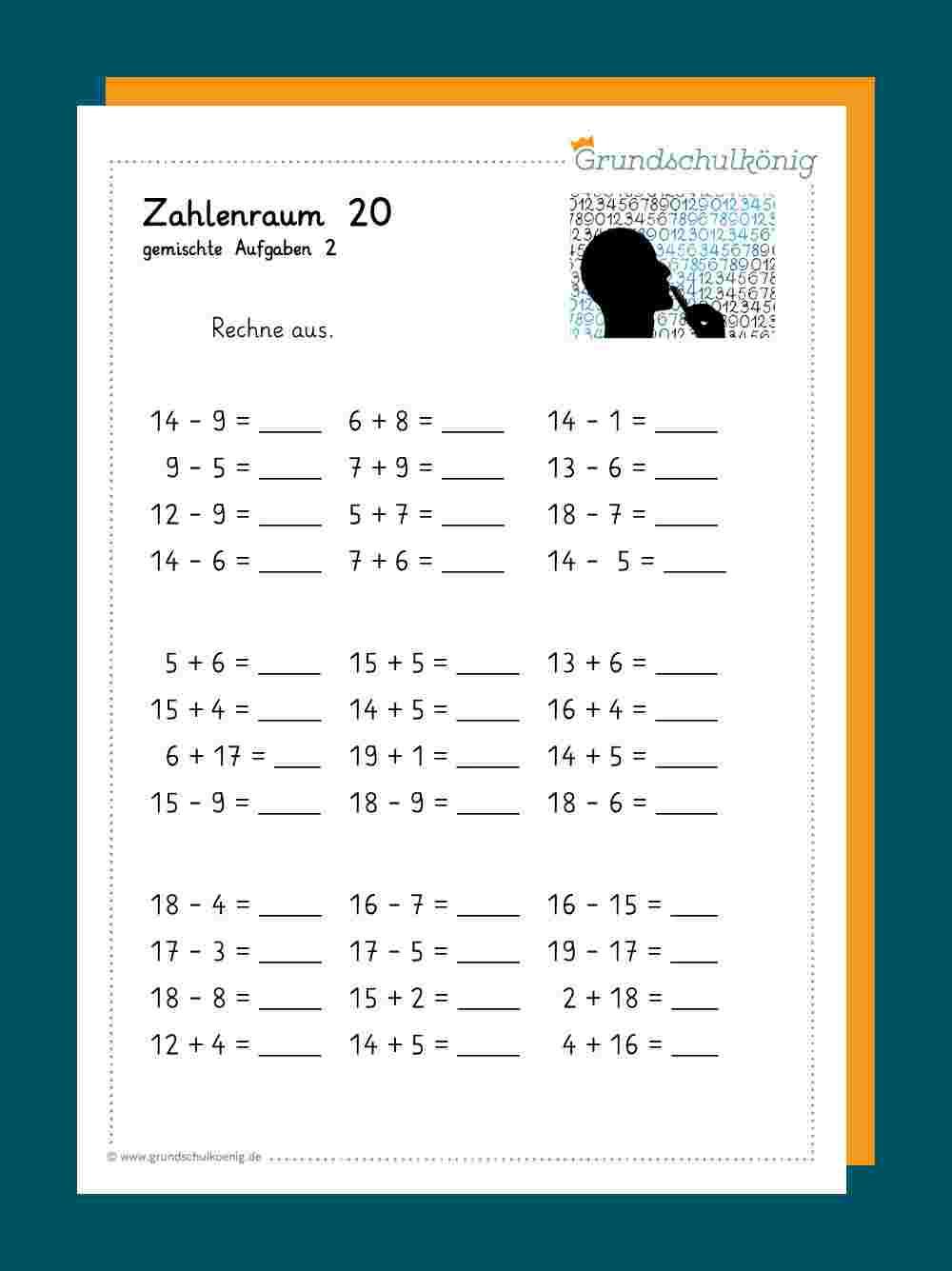 Matheaufgaben 1 Klasse Arbeitsblätter - kinderbilder.download | kinderbilder.download
