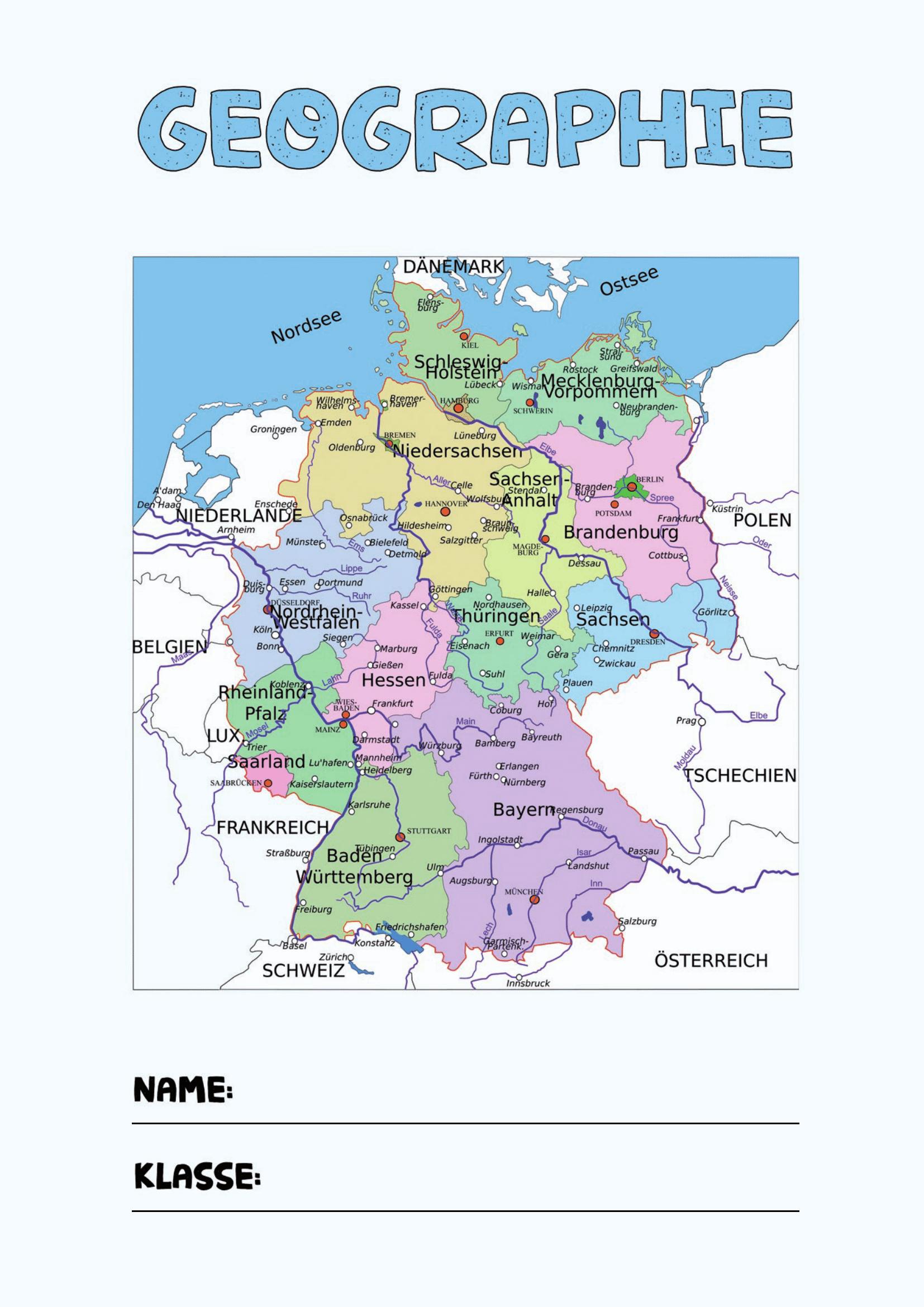 Geographie Deckblatt   Deckblatt Schule, Deckblatt, Decken verwandt mit Deckblätter Schule Kostenlos Ausdrucken