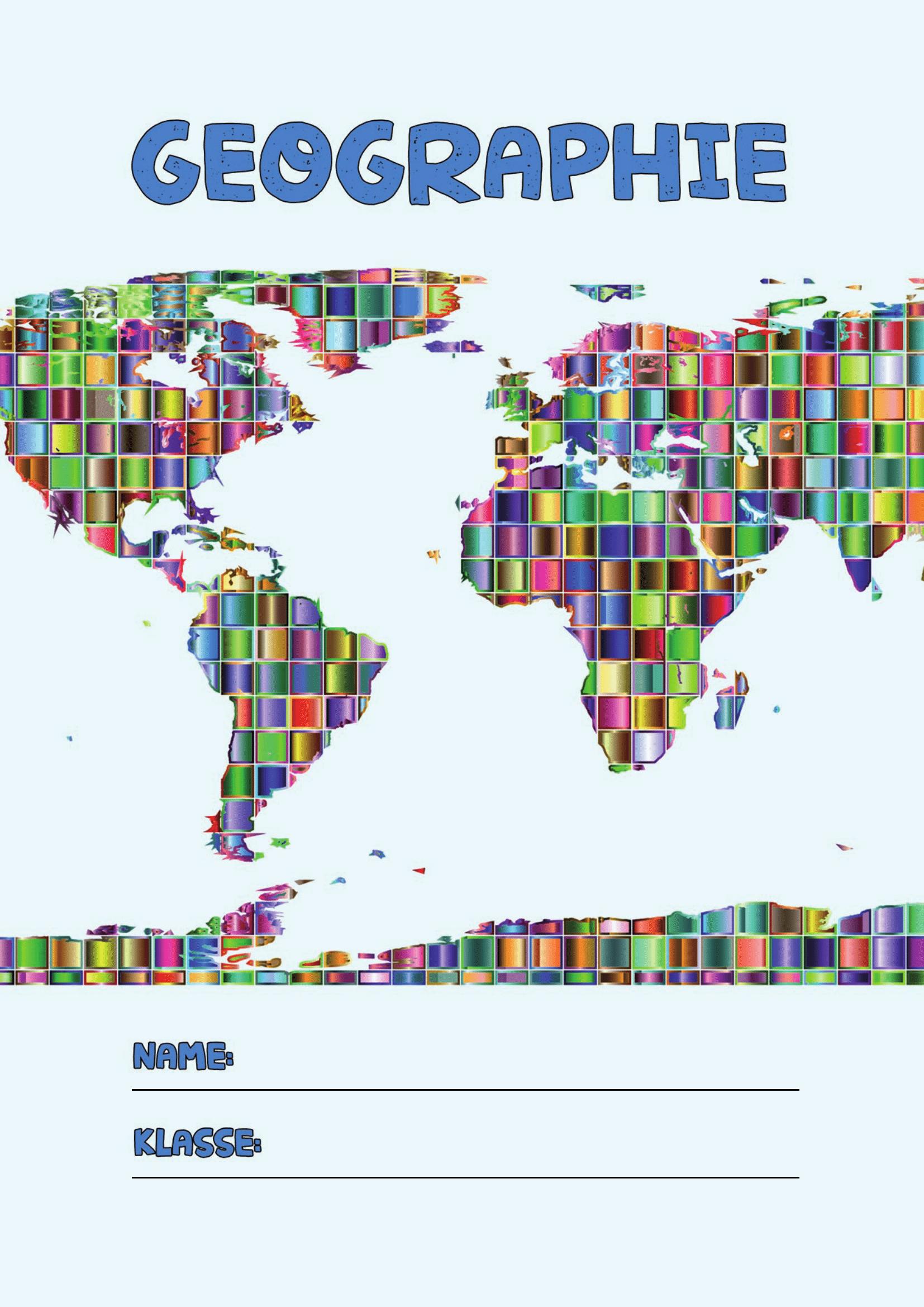 Geographie Deckblatt In 2020 (Mit Bildern)   Deckblatt bei Deckblätter Schule Kostenlos Ausdrucken