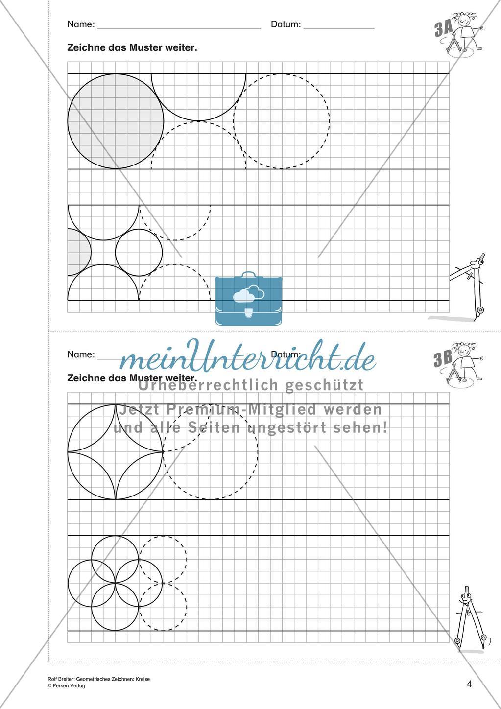 Geometrisches Zeichnen: Kreise - Meinunterricht in Kreise Zeichnen