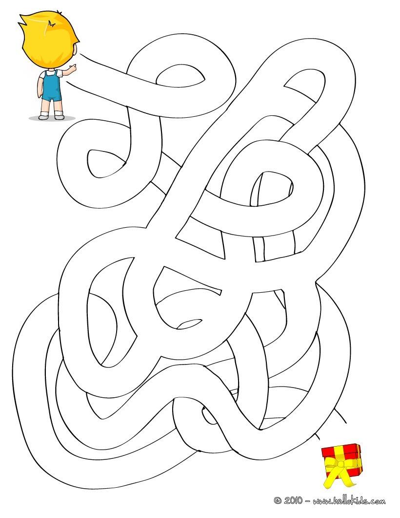 Geschenk Einfaches Labyrinth Zum Ausdrucken Kostenlose für Labyrinth Spiele Kostenlos