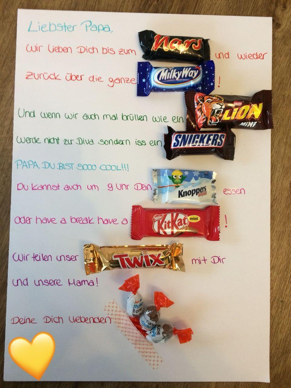Geschenkidee Für Papas, Die Süsses Lieben :-) Mars, Snickers mit Weihnachtsgeschenke Für Papa Selber Machen