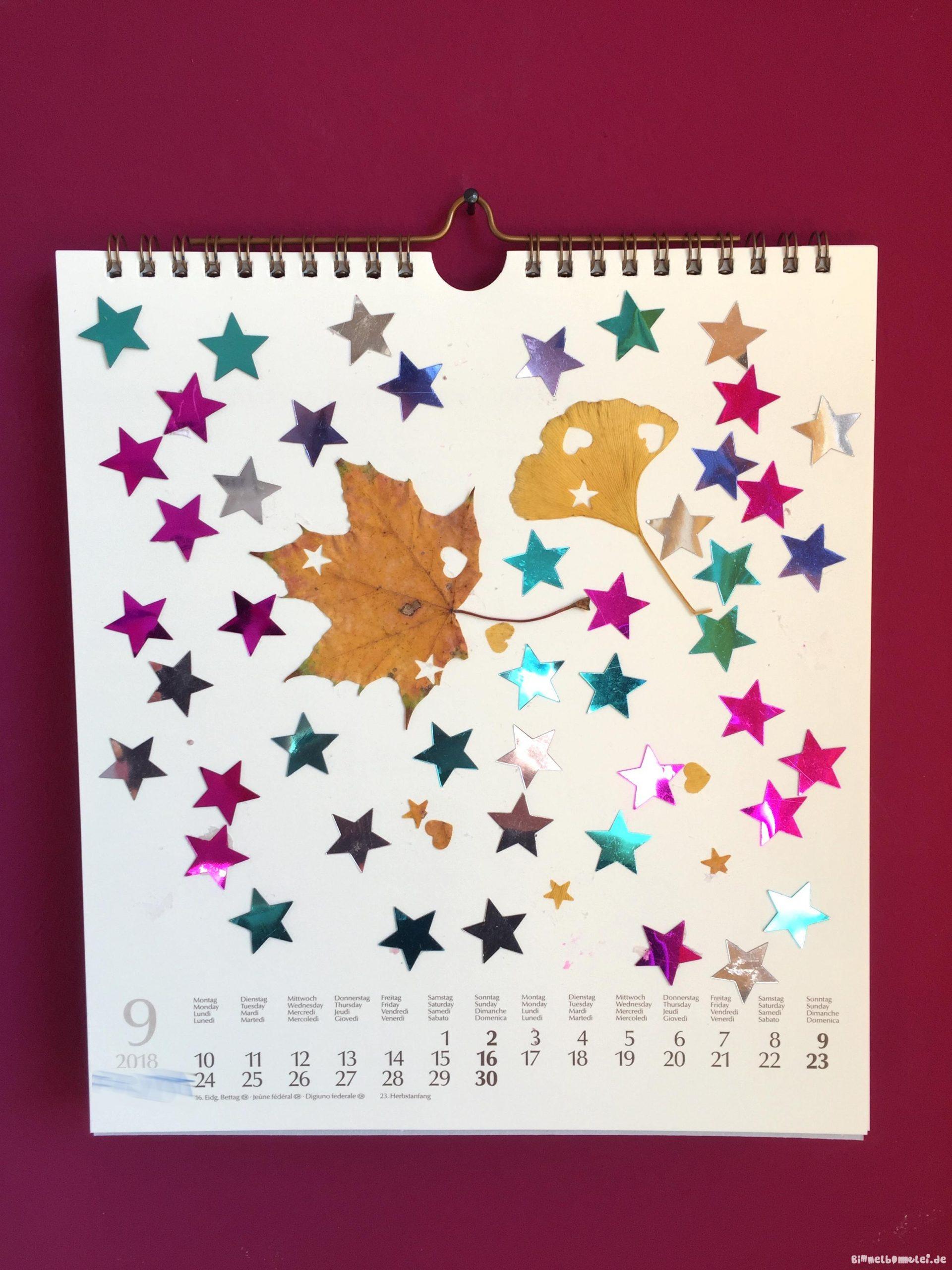 Geschenkidee Zu Weihnachten: Die Kinder Basteln Einen über Kalender Zum Basteln