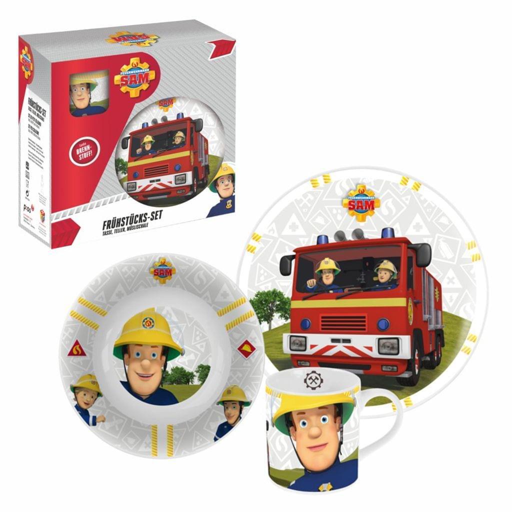 Geschirr-Frühstück-Set   Feuerwehrmann Sam   3-Teilig   Porzellan für Feuerwehrmann Sam Tasse