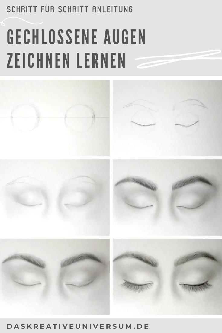 Geschlossene Augen Zeichnen - Anleitung In 8 Schritten Inkl bestimmt für Augen Malen Lernen