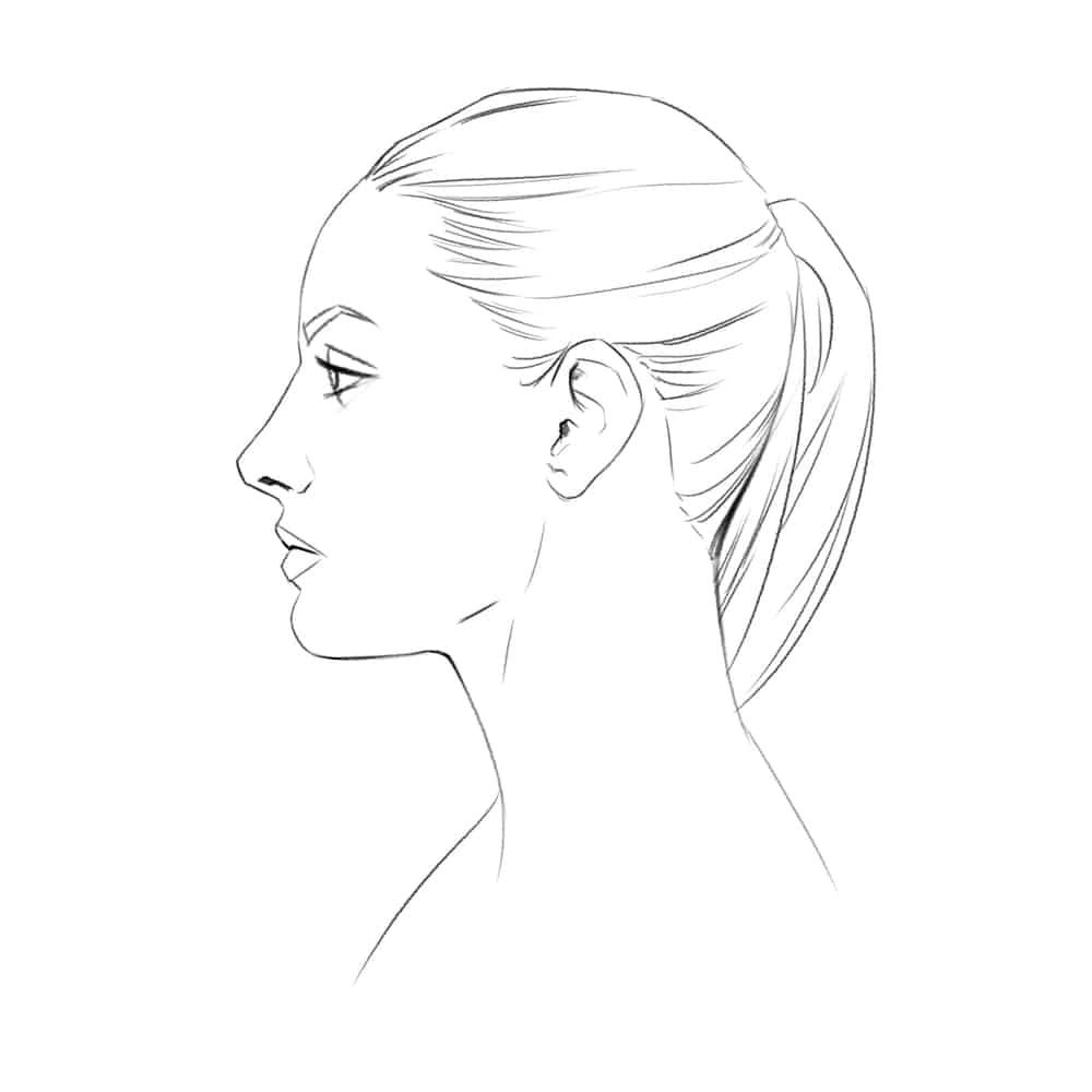 Gesicht Im Profil Zeichnen Lernen - Komplette Anleitung mit Gesicht Von Der Seite Zeichnen