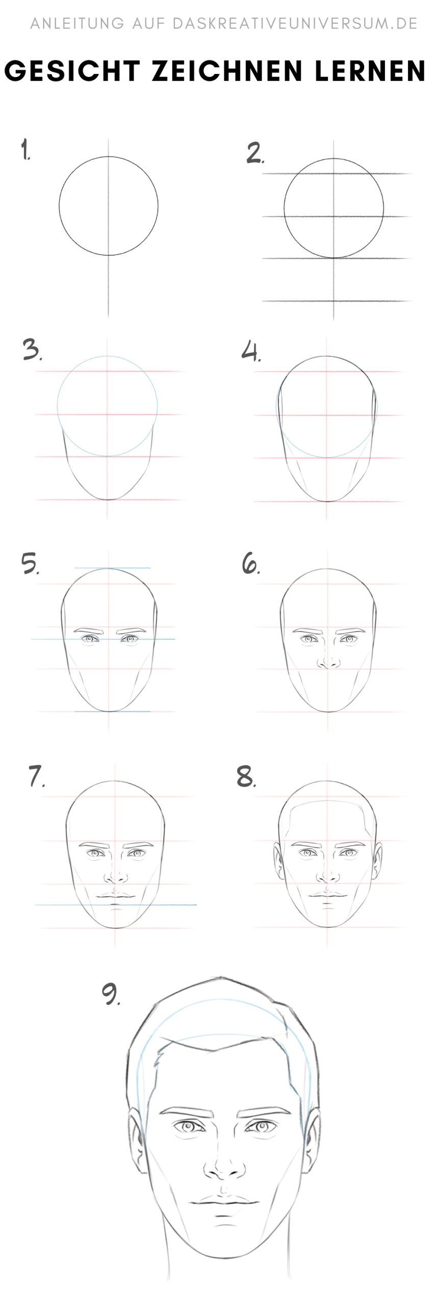Gesicht Zeichnen Lernen Pdf In 2020 | Gesicht Zeichnen über Gesicht Zeichnen Anleitung