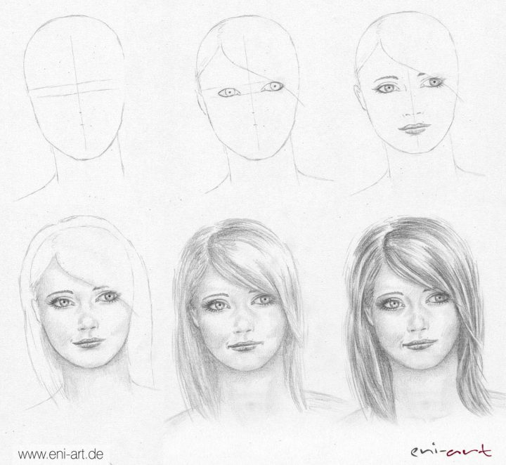 Gesichter Zeichnen Und Malen - Zeichnen Lernen ganzes Menschen Malen Lernen