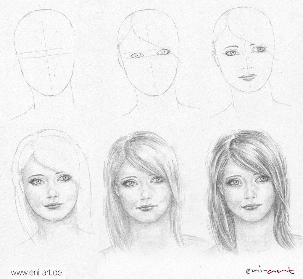 Gesichter Zeichnen Und Malen - Zeichnen Lernen verwandt mit Wie Zeichne Ich Einen Menschen