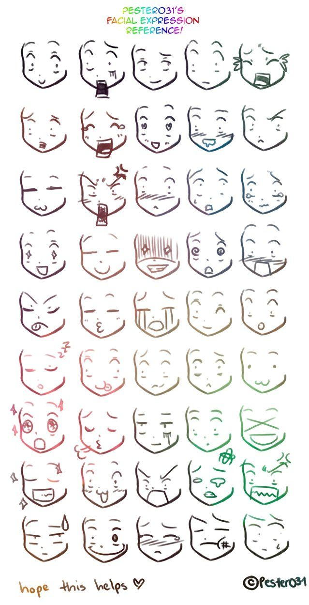 Gesichtsausdrücke (Con Imágenes) | Dibujos De Caras, Bocetos bestimmt für Comic Zeichnen Lernen