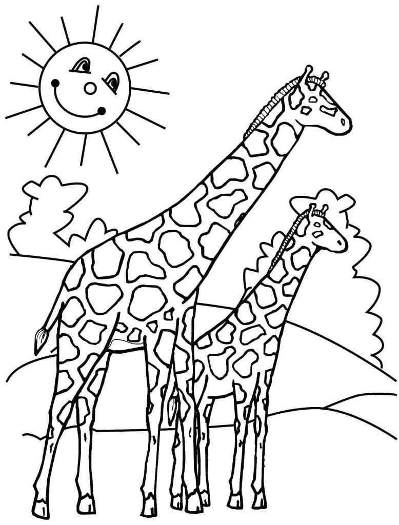 Giraffe Ausmalbilder Für Kinder - Kids-Ausmalbildertv verwandt mit Giraffe Ausmalbild