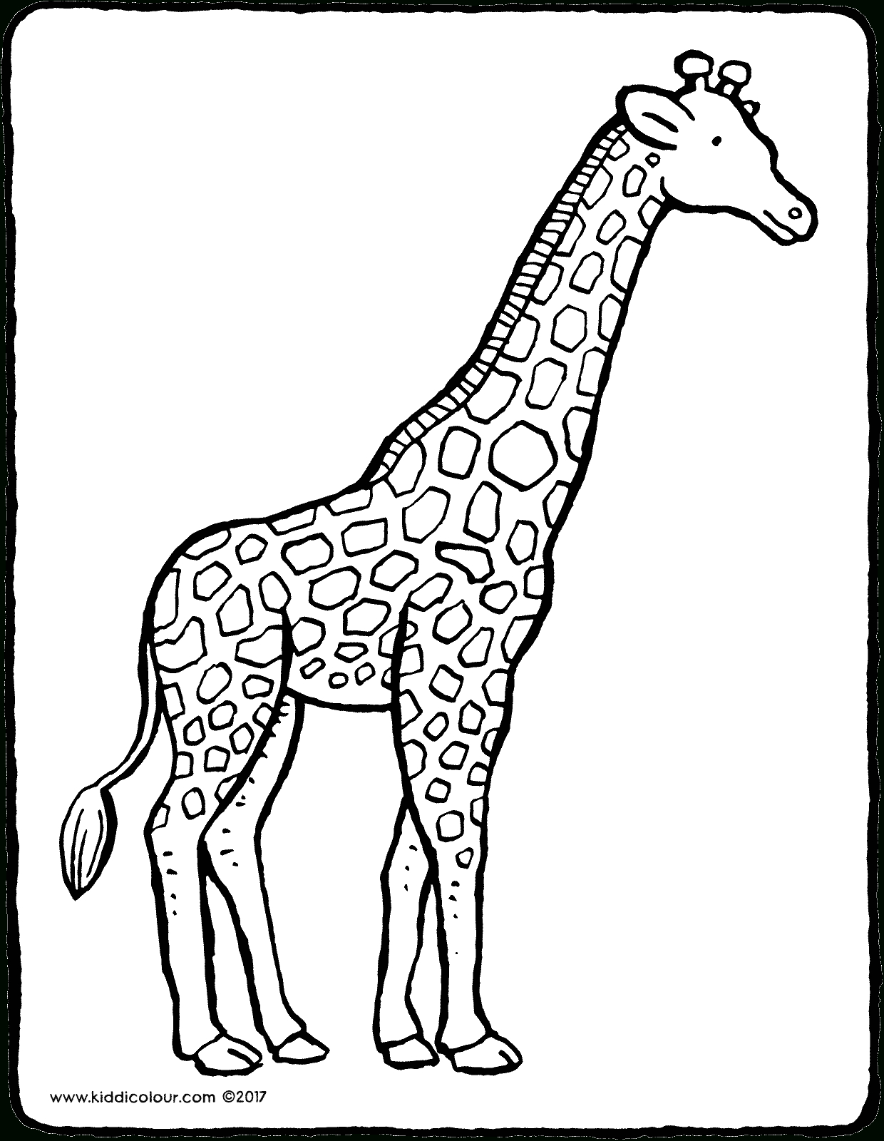Giraffe - Kiddimalseite bestimmt für Giraffe Ausmalbild