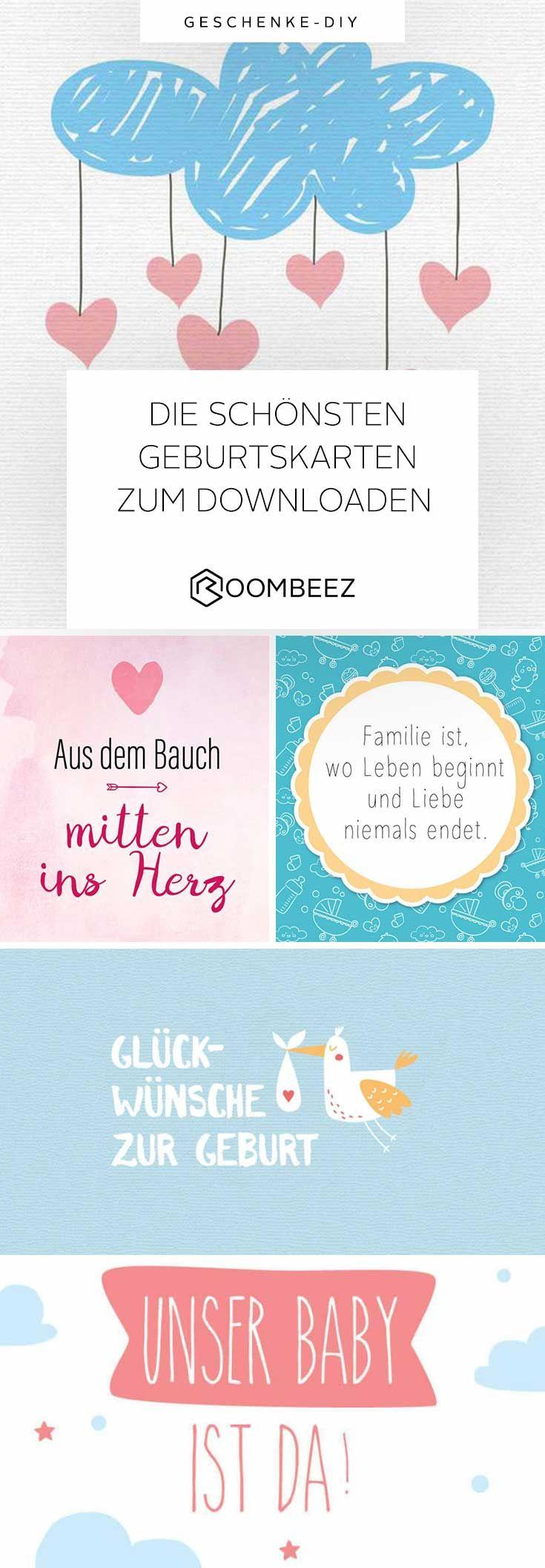 Glückwünsche Zur Geburt » 20 Kostenlose Babykarten bestimmt für Glückwunschkarten Zur Geburt Zum Ausdrucken