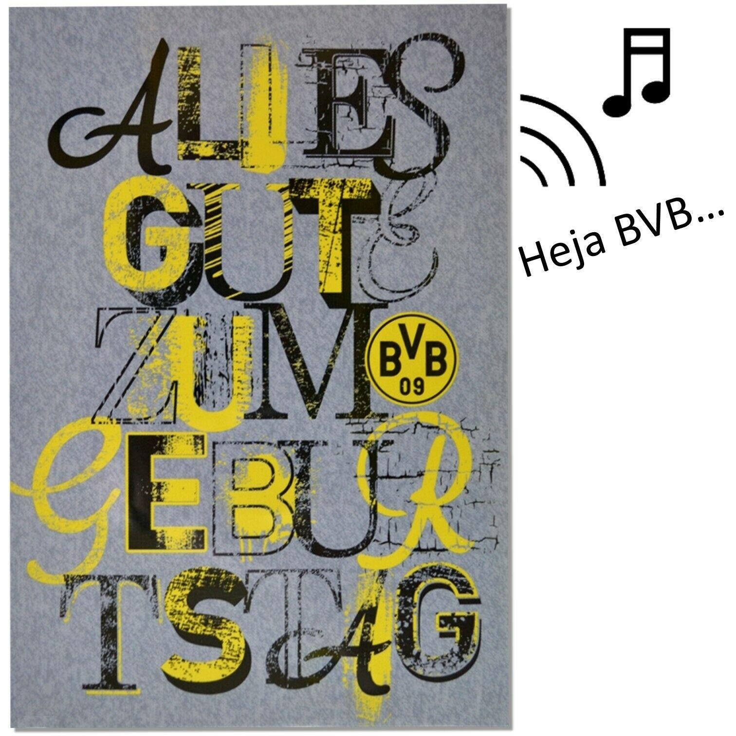 Glückwunschkarte Bvb Borussia Dortmund Geburtstagskarte über Bvb Geburtstagskarte