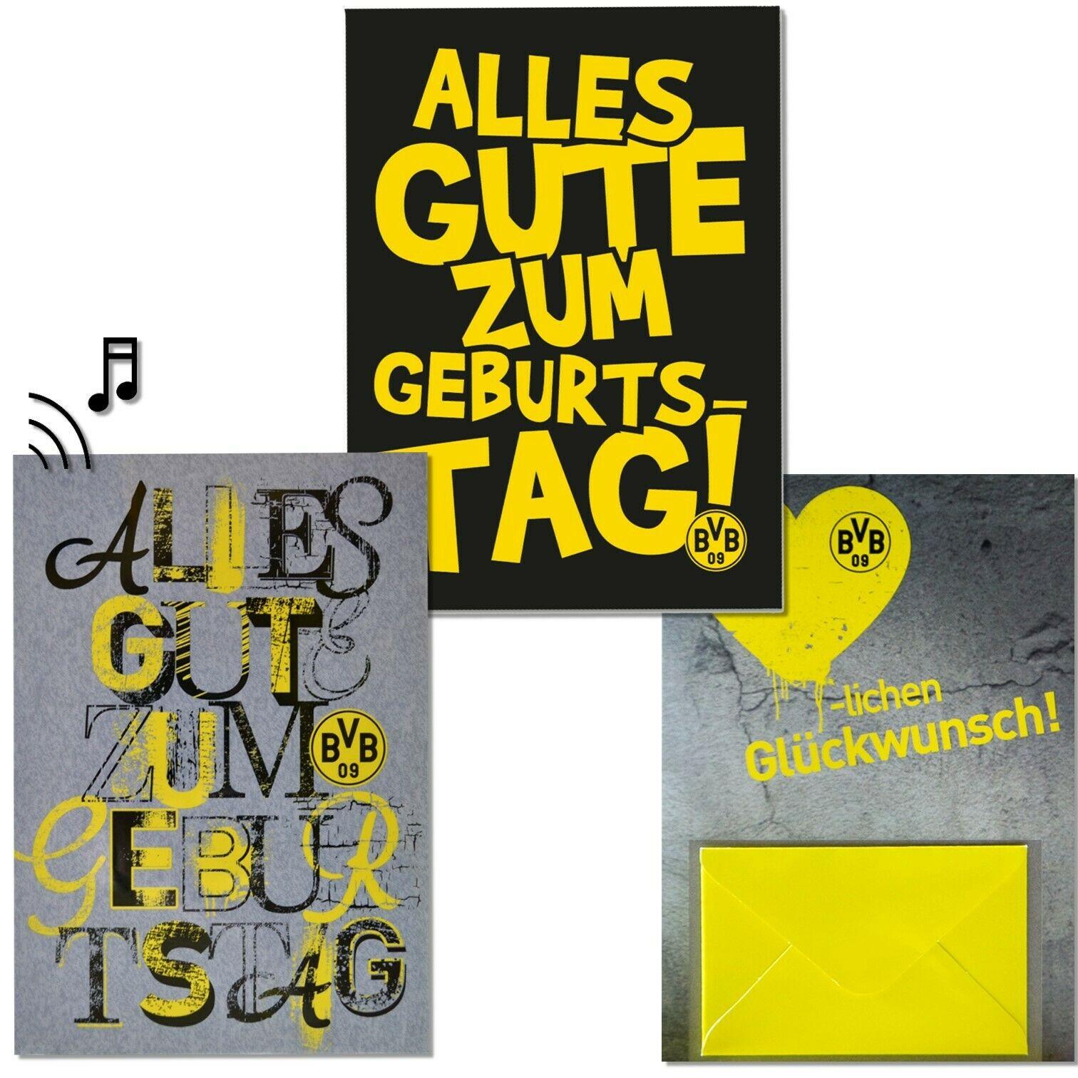 Glückwunschkarte Bvb Borussia Dortmund Geburtstagskarte verwandt mit Bvb Geburtstagskarte